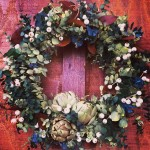 Scented wreaths make wonderful gifts! eucalyptus snowberry scented driedartichokes