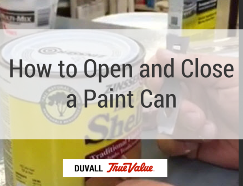How to Open and Close a Paint Can