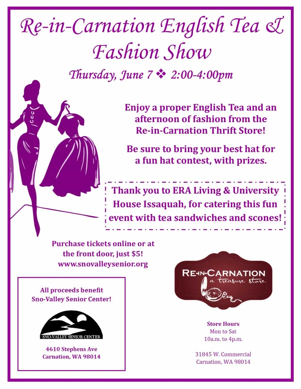 Re-in-Carnation Fashion Show and Tea