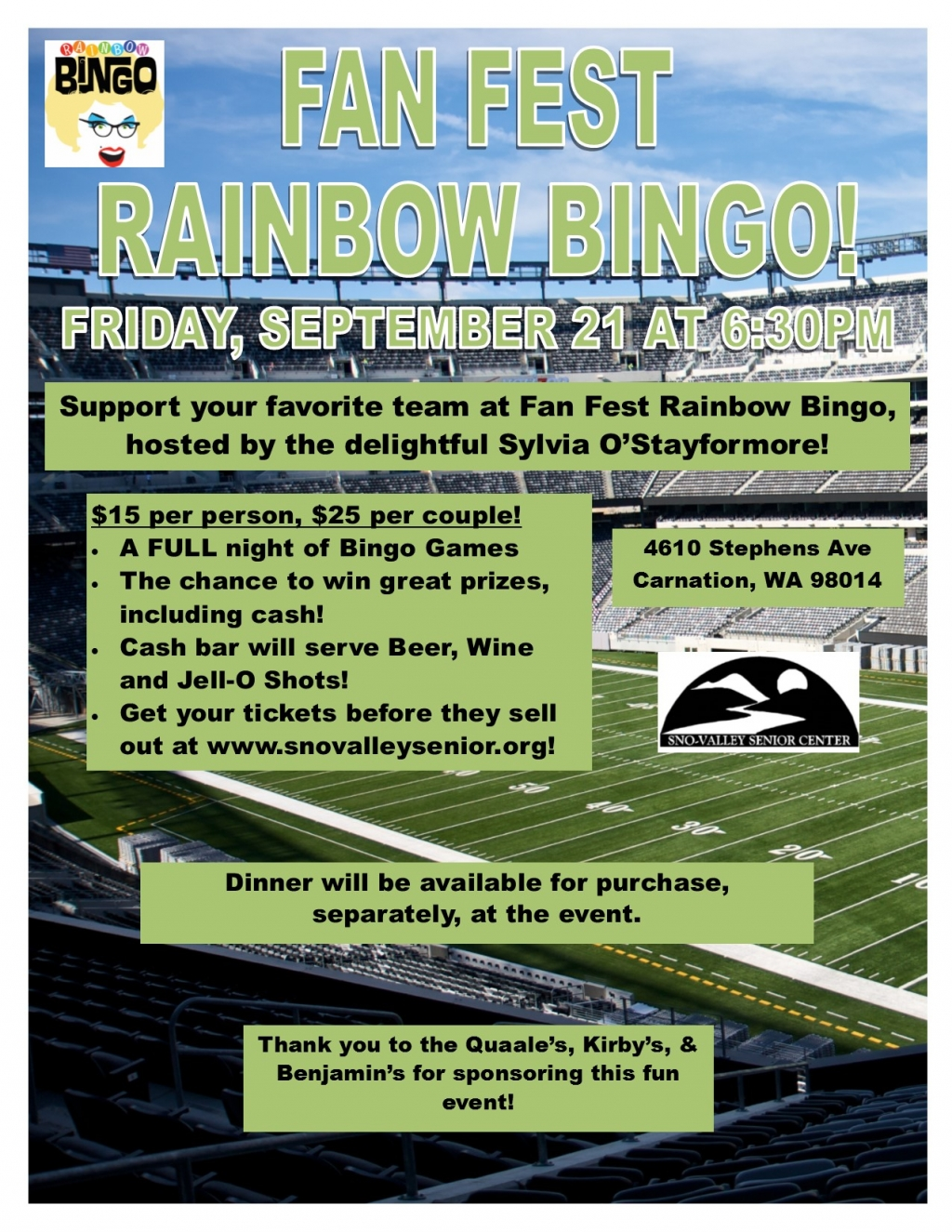 Fan Fest Rainbow Bingo