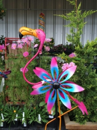 Pink Flamingo Garden Art