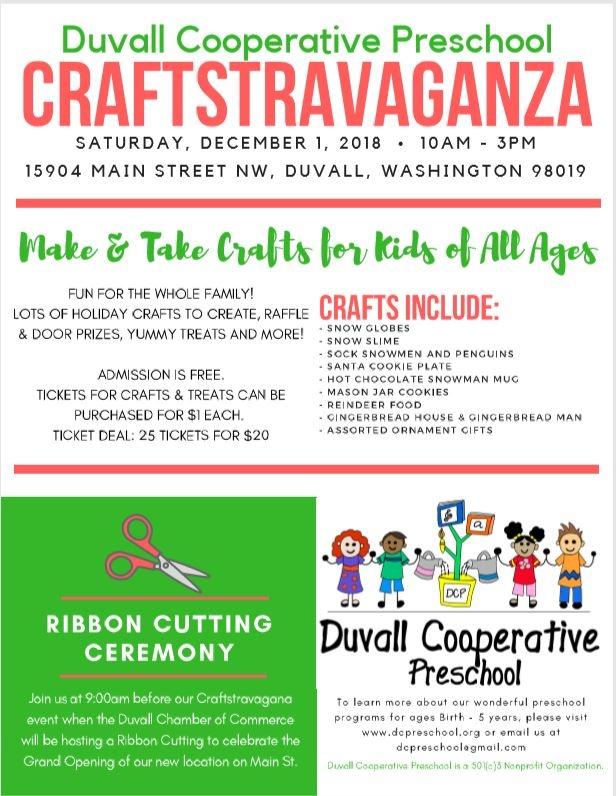 Duvall Cooperative Preschool Craftstravaganza