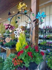 Garden kenetics create movement in the garden year round!
