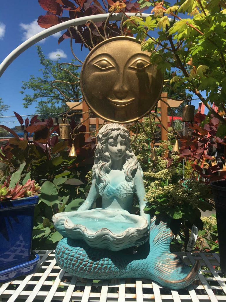 Mermaid Fountain and Sun Garden Art