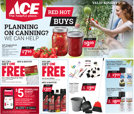 August Red Hot Buys