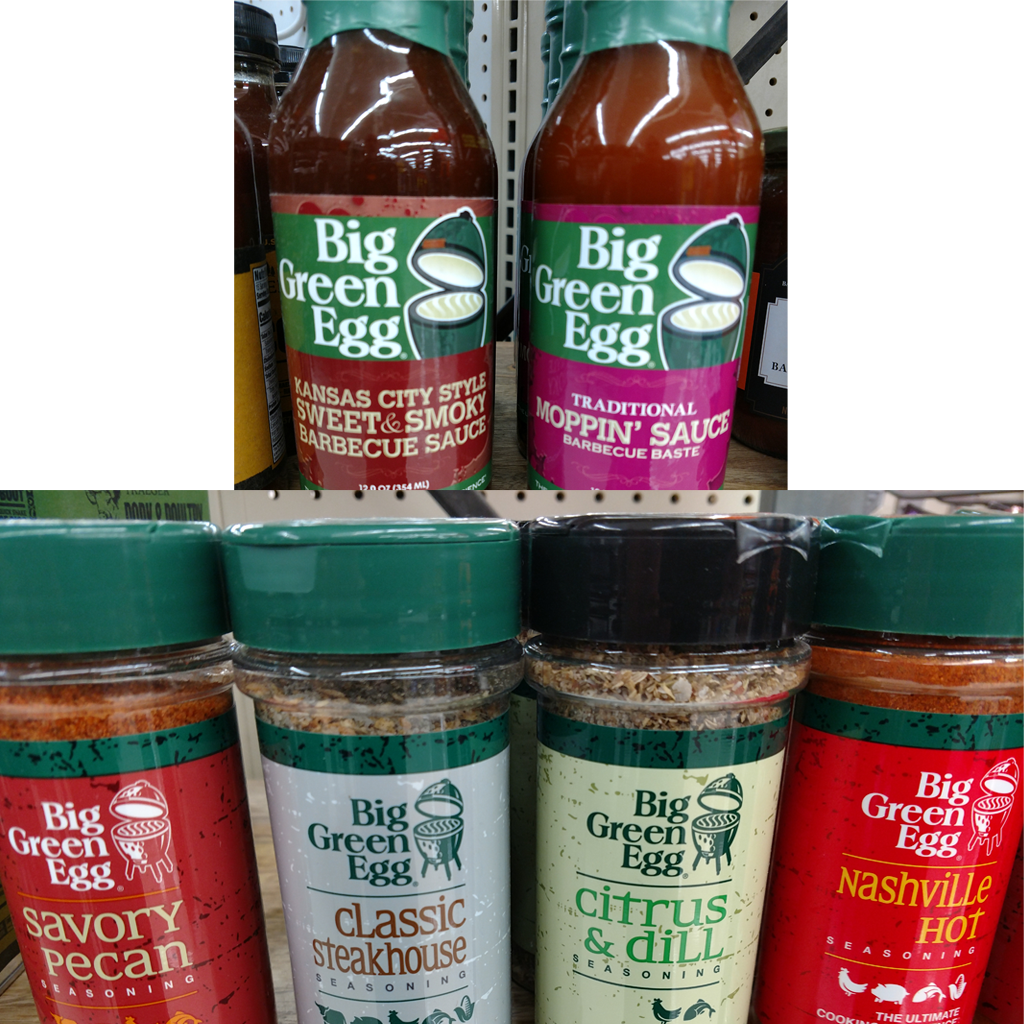 Big Green Egg Sauces and Rubs In Stock