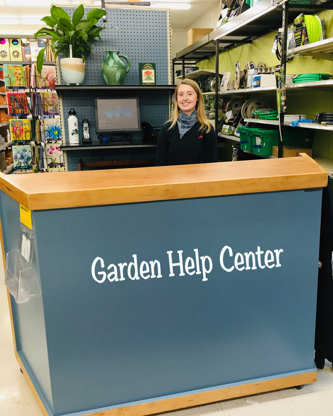 Garden help center now open