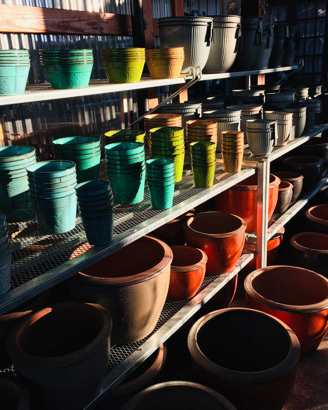 New metal pots in stock