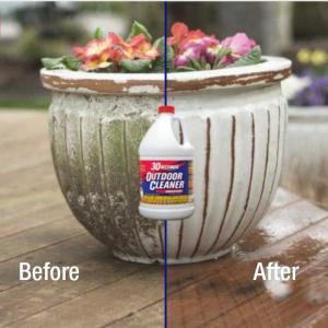 30 Seconds Cleaner works on flower pots