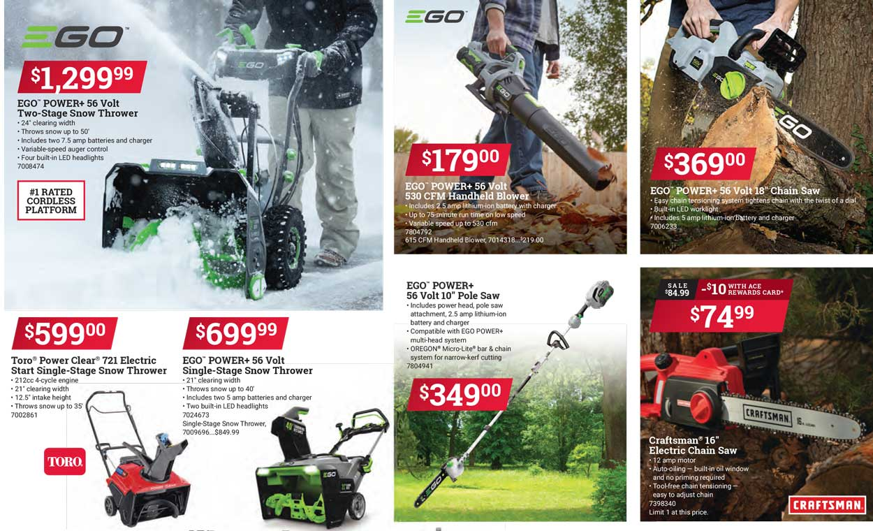 EGO Power Tools On Sale